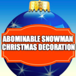 Abominable Snowman Christmas Decoration