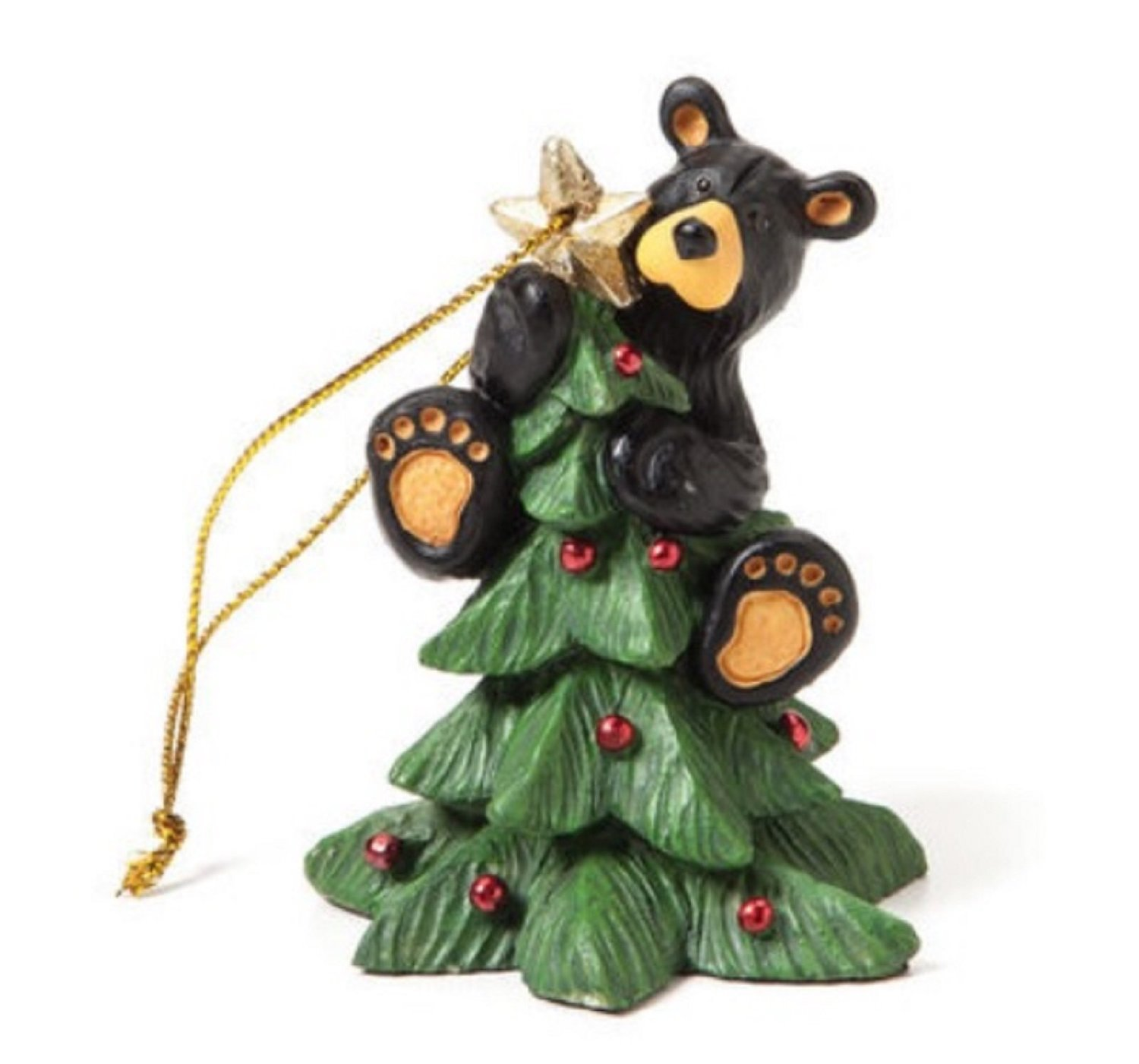 black bear christmas ornament