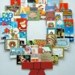 Christmas Card Wreath Holder