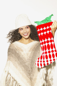 large knit Christmas stocking