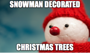 snowman-decorated-christmas-trees